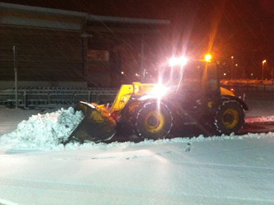 Snow clearance in action